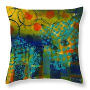 Abstract Expressions - Background Art Throw Pillow