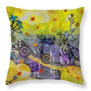 Abstract - Falling Leaves Throw Pillow