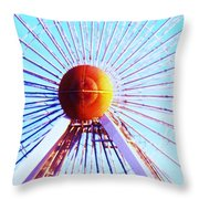 Abstract Ferris Wheel Throw Pillow
