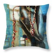 Abstract Figure Work Throw Pillow by Catf