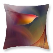 Abstract Fine Art Print Early In The Morning Throw Pillow