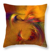 Abstract Fine Art Print High Spirits Throw Pillow