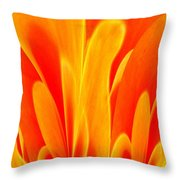 Abstract Fire Throw Pillow