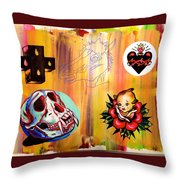 Abstract Flash  Throw Pillow