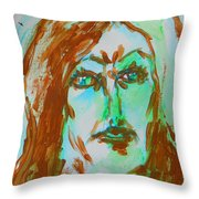 Abstract Flashes Of Joan Throw Pillow