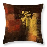 Abstract Floral - A8v46bt2a Throw Pillow