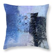 Abstract Floral - Bl3v3t1 Throw Pillow