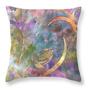 Abstract Floral Designe - Panel 1 Throw Pillow