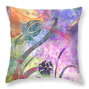 Abstract Floral Designe - Panel 2 Throw Pillow