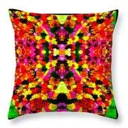 Abstract Floral Duvet Throw Pillow