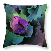 Abstract Floral Expression 041213 Throw Pillow