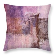 Abstract Floral- I55bt2 Throw Pillow