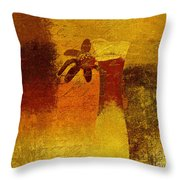 Abstract Floral - P01bt01c11c Throw Pillow