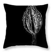 Abstract Flower Bud Throw Pillow