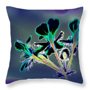 Abstract Flower - Digital Abstract Throw Pillow