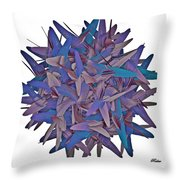 Abstract Flower Throw Pillow