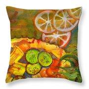 Abstract Food Kitchen Art Throw Pillow