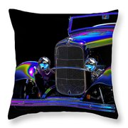 Abstract Ford - Classic Hotrods Throw Pillow