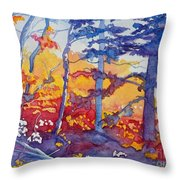 Abstract Forest No. 1 Throw Pillow