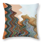 Abstract  Four Of Twenty One Throw Pillow