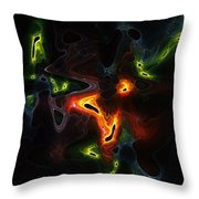 Abstract Fractals Throw Pillow