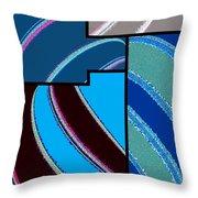 Abstract Fusion 143 Throw Pillow
