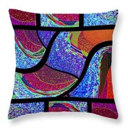 Abstract Fusion 168 Throw Pillow