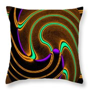 Abstract Fusion 174 Throw Pillow