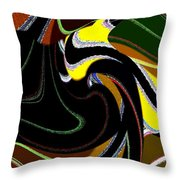 Abstract Fusion 183 Throw Pillow