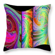 Abstract Fusion 184 Throw Pillow