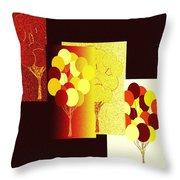 Abstract Fusion 192 Throw Pillow
