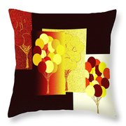 Abstract Fusion 192 Throw Pillow