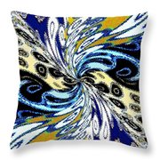 Abstract Fusion 198 Throw Pillow