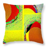 Abstract Fusion 199 Throw Pillow