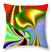 Abstract Fusion 200 Throw Pillow