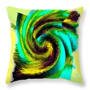 Abstract Fusion 201 Throw Pillow