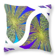 Abstract Fusion 203 Throw Pillow
