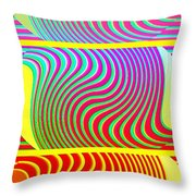 Abstract Fusion 205 Throw Pillow