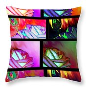 Abstract Fusion 214 Throw Pillow