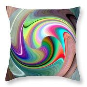 Abstract Fusion 241 Throw Pillow