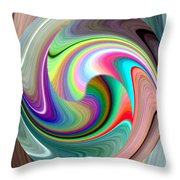 Abstract Fusion 241 Throw Pillow