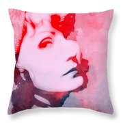 Abstract Garbo Throw Pillow