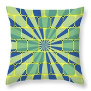 Abstract Geometric Blue Throw Pillow