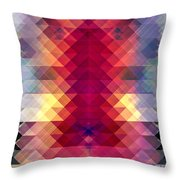 Abstract Geometric Spectrum Throw Pillow