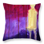 Abstract Ghost Figure No. 3 Throw Pillow