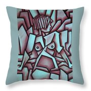 Abstract Girl  Throw Pillow