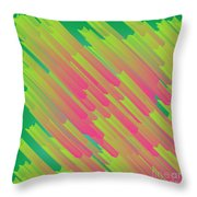 Abstract Glowing Structures Throw Pillow