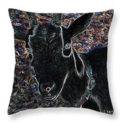 Abstract Goat Throw Pillow