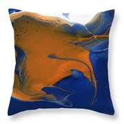 Abstract Gold Fish Throw Pillow
