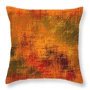 Abstract Golden Earth Tones Abstract Throw Pillow